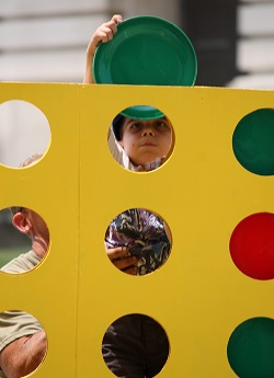 Giant Connect Four game in Danville, Indiana
