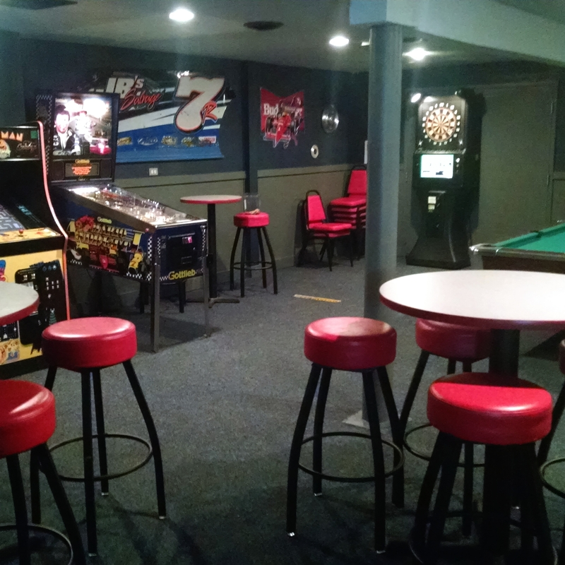 This game room in the back of Jimbo's BBQ is a fun place for kids (and adults!), as well as a great spot for a meeting.