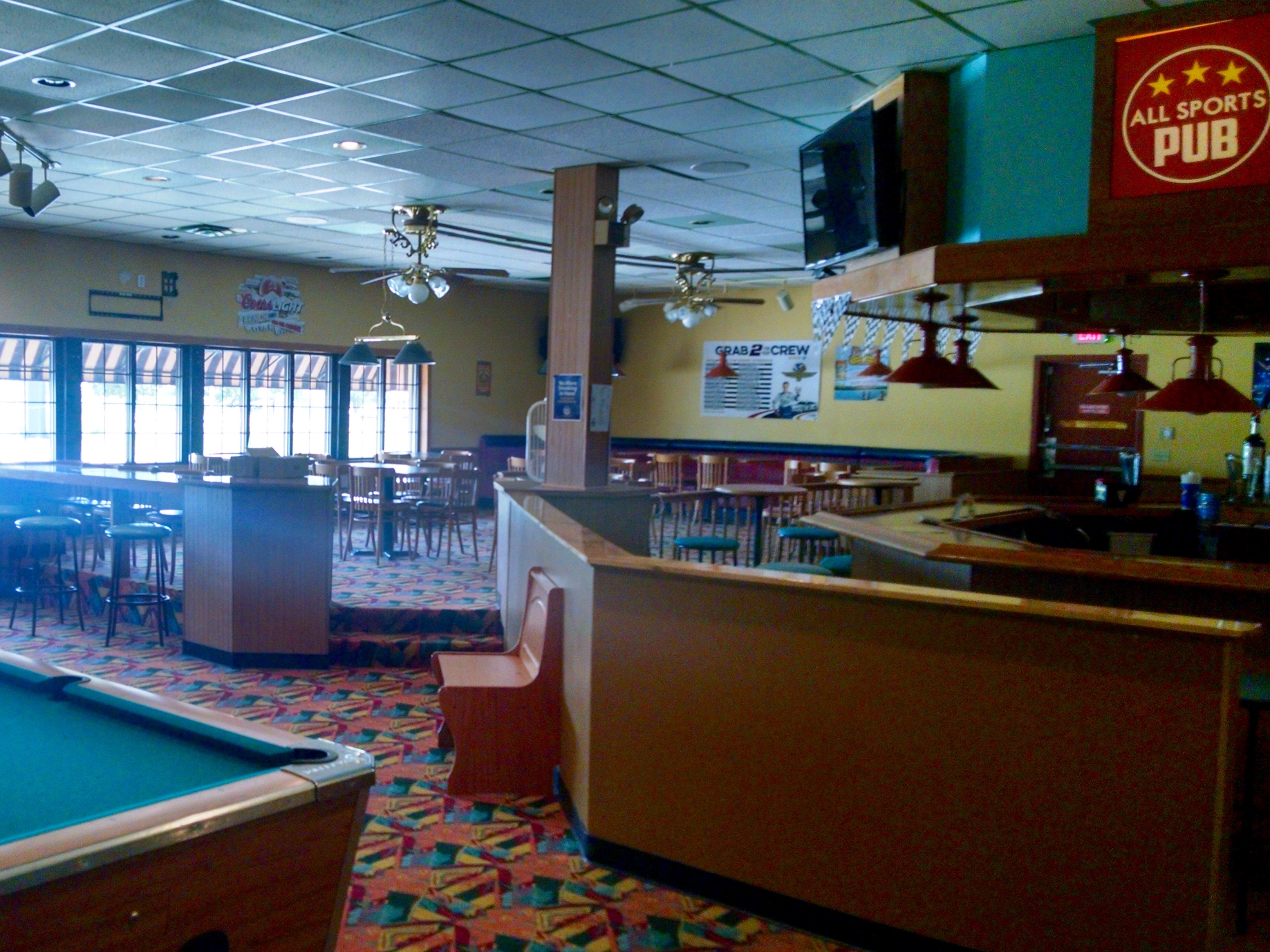 I could spend a lot of time in the All-Sports Pub inside Sunshine Bowling Center!