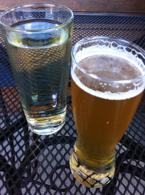 beer and cider at Black Swan Brewpub