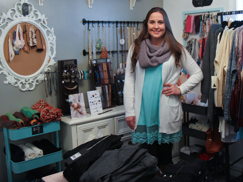 Ella Mae's owner Abby McKinney poses at her store.