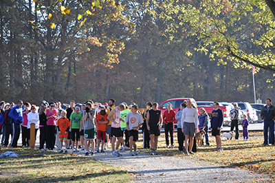 Runners at McCloud Nature Park, North Salem, Indiana