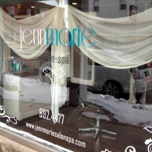 Jennmarie Salon and Spa Window