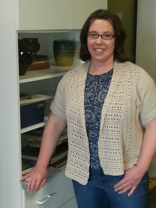 Artistic Designs Gallery owner Laura Tesdahl in Brownsburg, Indiana