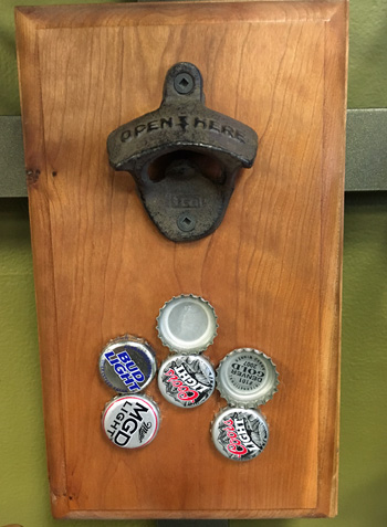 Magnetic bottle opener at Artistic Designs Gallery in Brownsburg, Indiana
