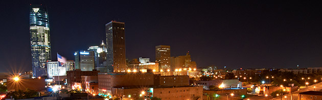 Skyline of Bricktown District
