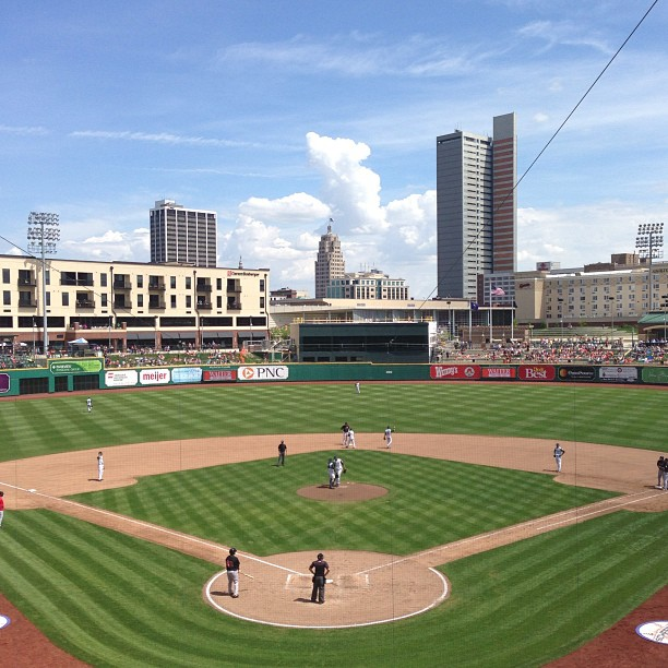 You'll get a great view of downtown Fort Wayne in the stands at Parkview Field!