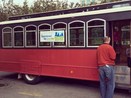 Hop on a trolley and get your shopping on!
