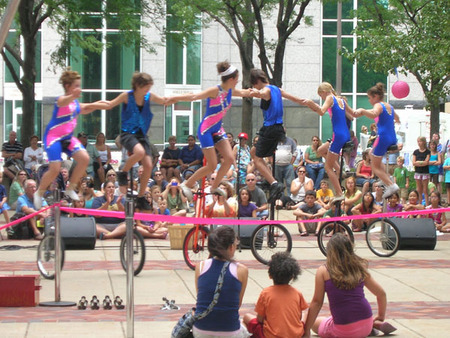 You'll see fun and unique performances at Buskerfest.