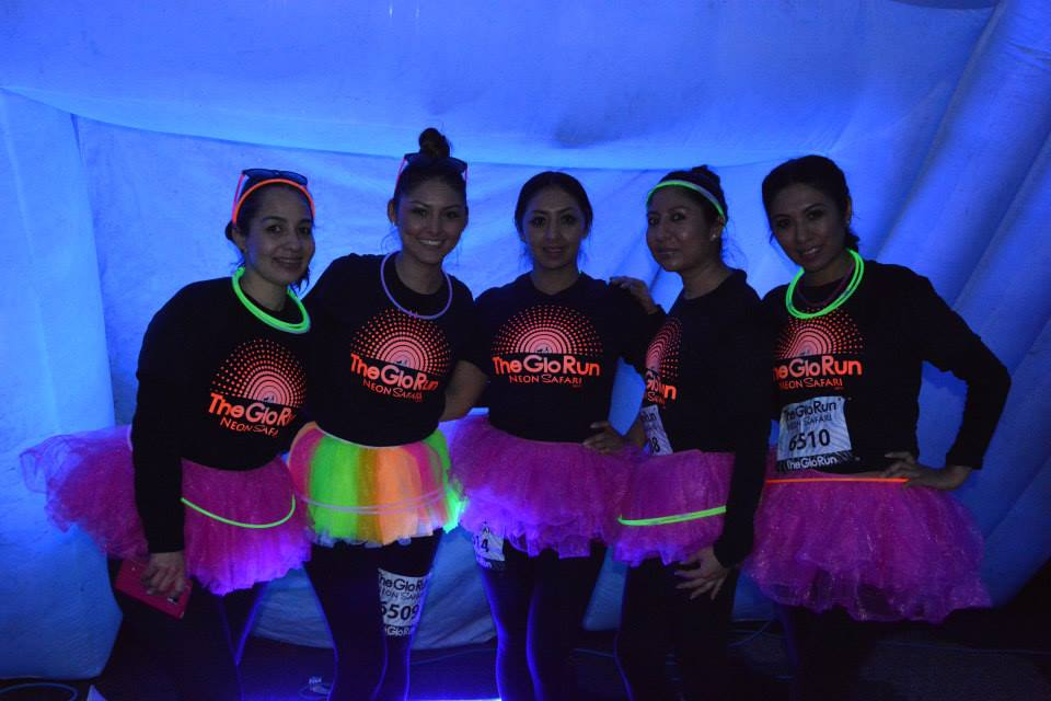The Glo Run will take you on a neon light safari.