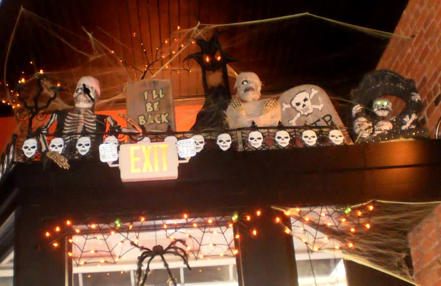 Halloween decorations at Central City Cafe