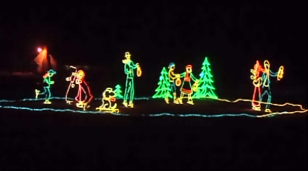 You'll find a variety of fun, wintery light displays along the Fantasy of Lights path.