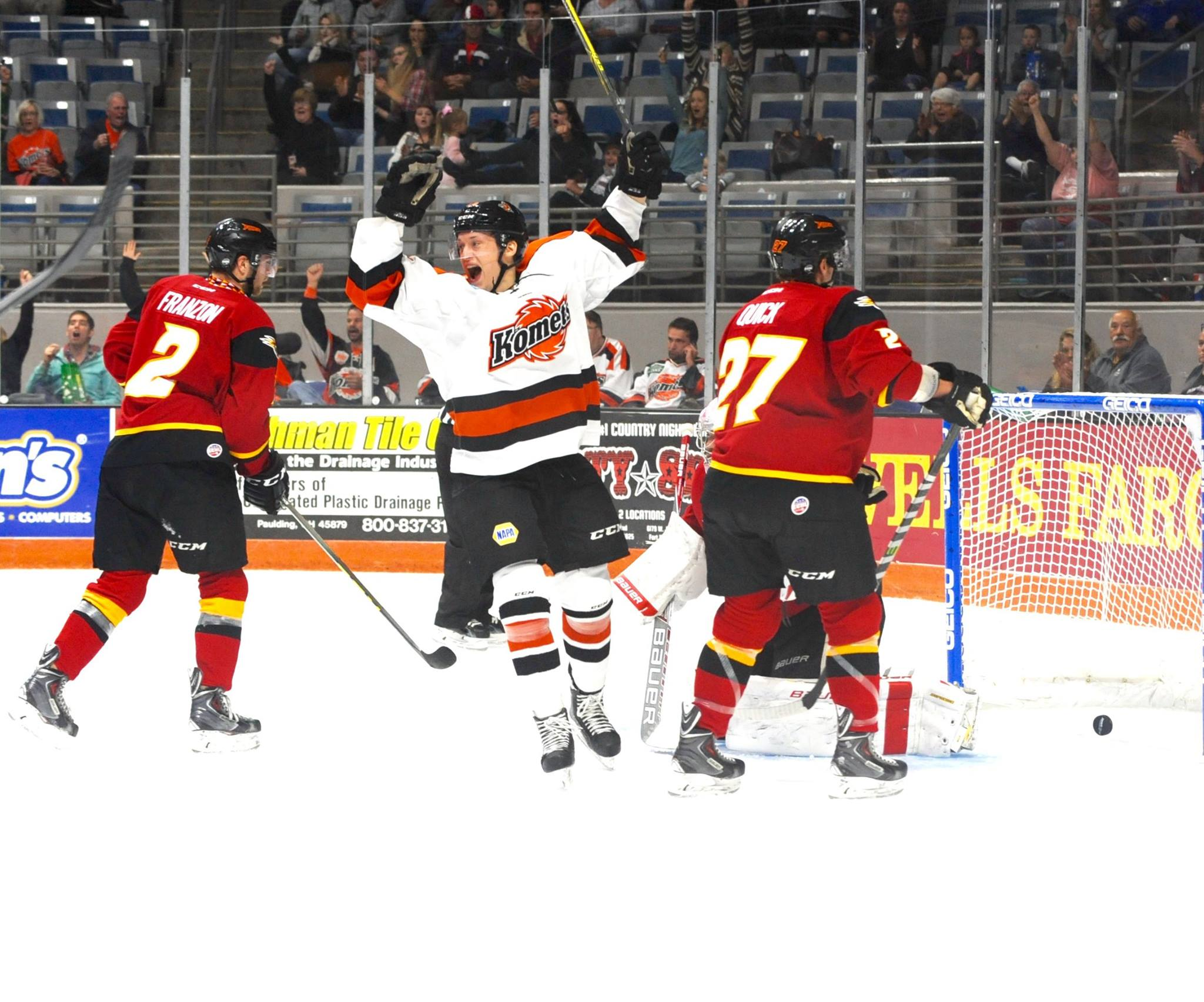 You'll be chanting along with the crowd in no time when the Komets score!