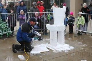 Winterval Ice Carving