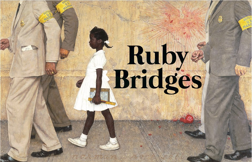 Ruby Bridges Painting by Norman Rockwell