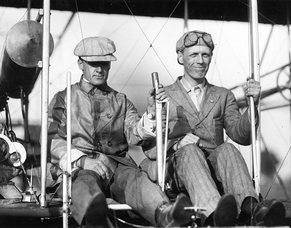 Wright-Patterson AFB in Dayton, Ohio, is named because of this prestigious pair of brothers who are credited with inventing and building the world's first airplane.