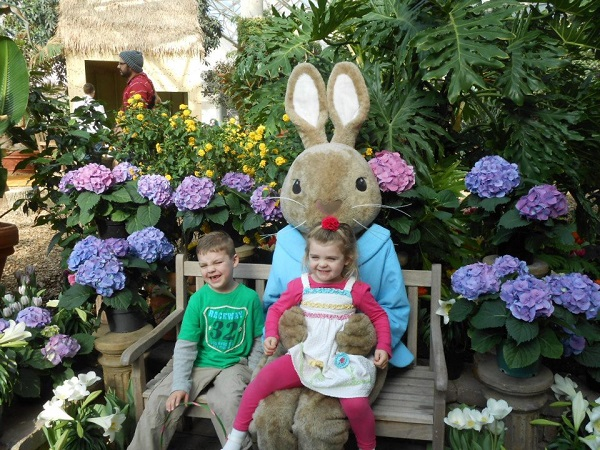 Easter Bunny at the Conservatory