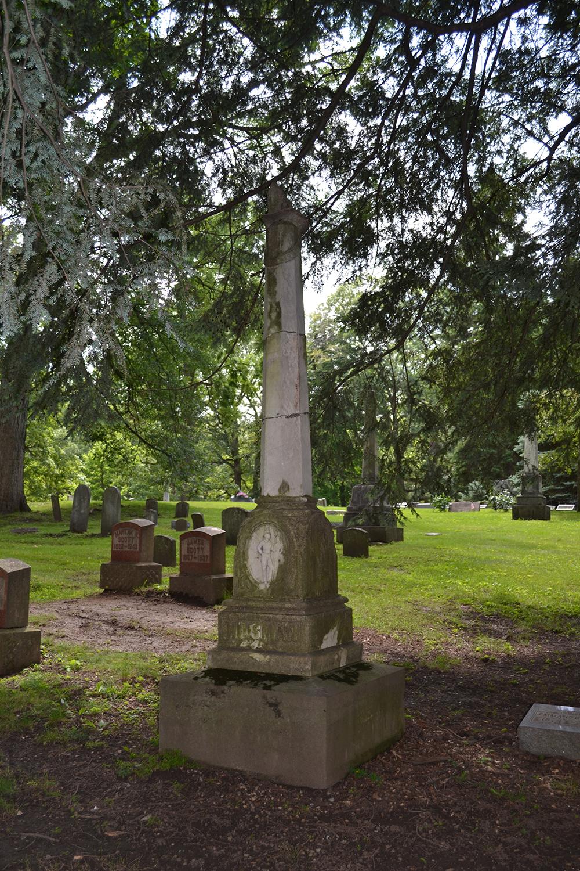 Lindenwood Cemetery Gravestone