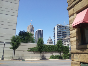 Downtown Fort Wayne is comfortortable easy to navigate.