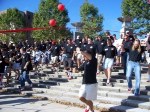 Walk a Mile in Her Shoes is one of many events that take place in Headwaters Park each year.