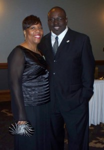 Mr. & Mrs. Jonathan Ray. Mr. Ray is CEO of the Fort Wayne Urban League