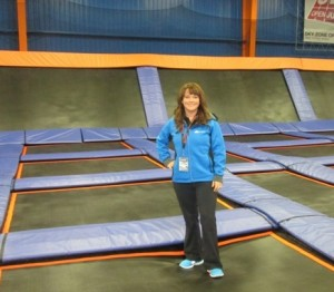 Carrie Snyder at the Sky Zone Indoor  Trampoline Park
