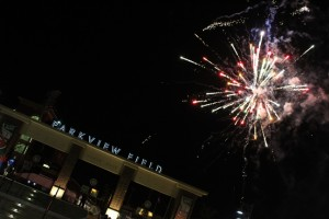 Fireworks at Parkview Stadium