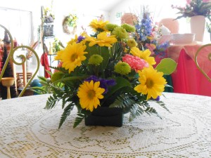Crossroads offers many different types of fresh flower arrangements.