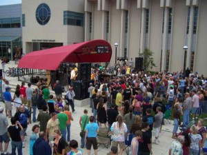 Rock the Plaza is a summer all-ages concert series.