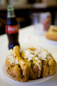 Three Coney Dogs and a cold bottle of Coke, please!