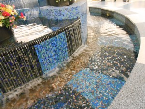 Glenbrook Fountain - all change collected in the fountain is donated to Habitat for Humanity