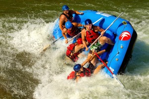 Whitewater rafting at the US National Whitewater Center