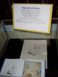Nursery rhymes like this one on display at Karpeles Manuscript Library may have been written as political statements.