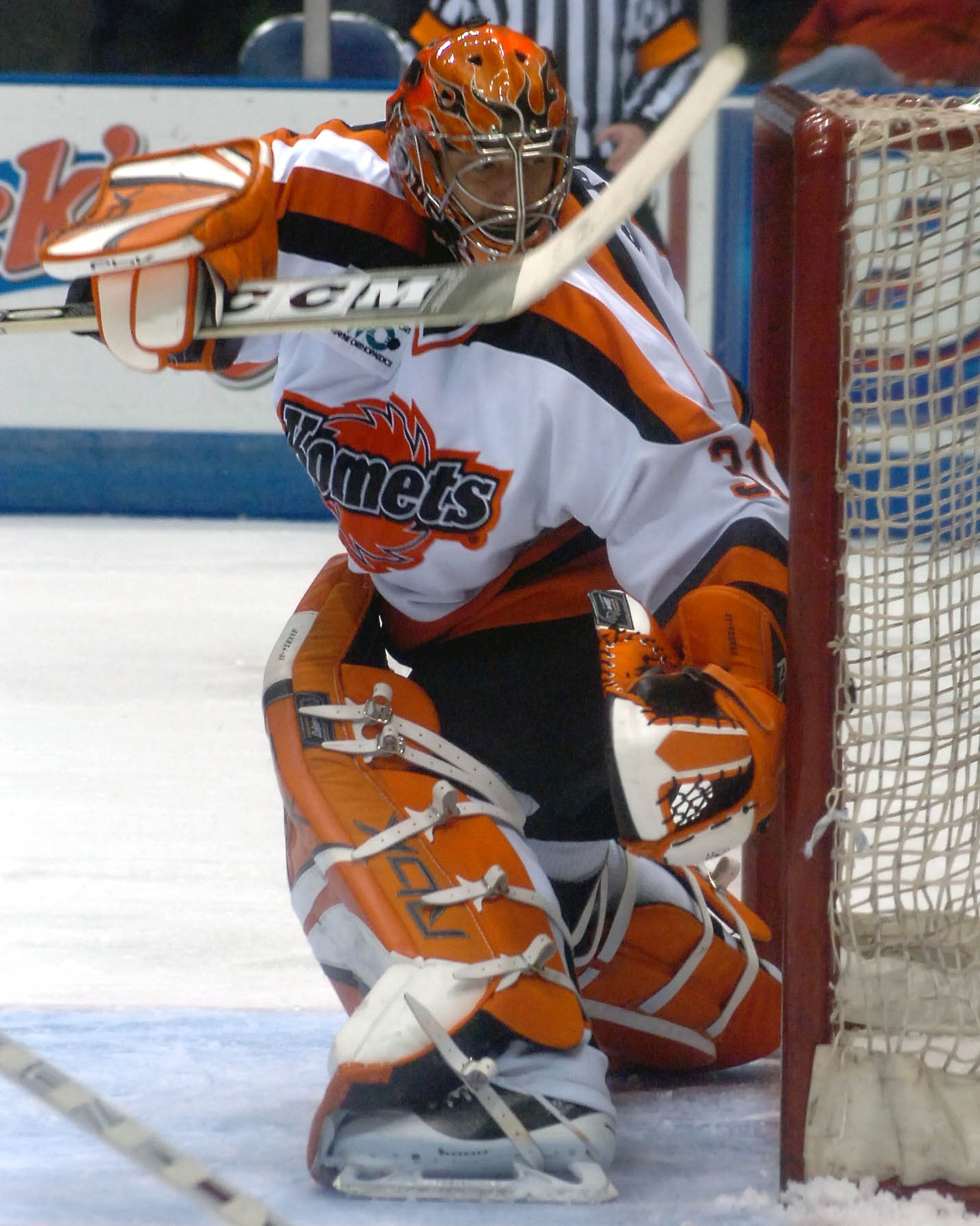 Defending the Komets ice!