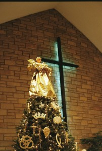 One of the golden angels at Holy Cross Lutheran - doesn't it shimmer?