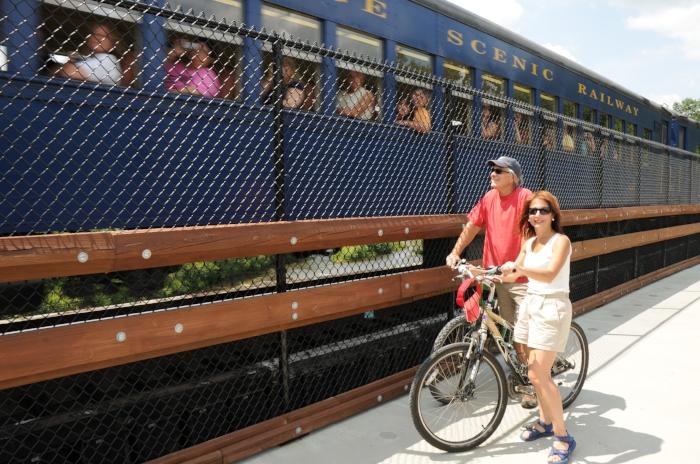 Biking the Lehigh  Gorge in the Pocono Mountains