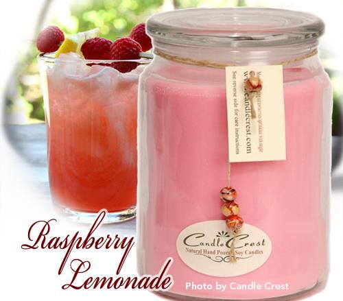 spring blog candle crest