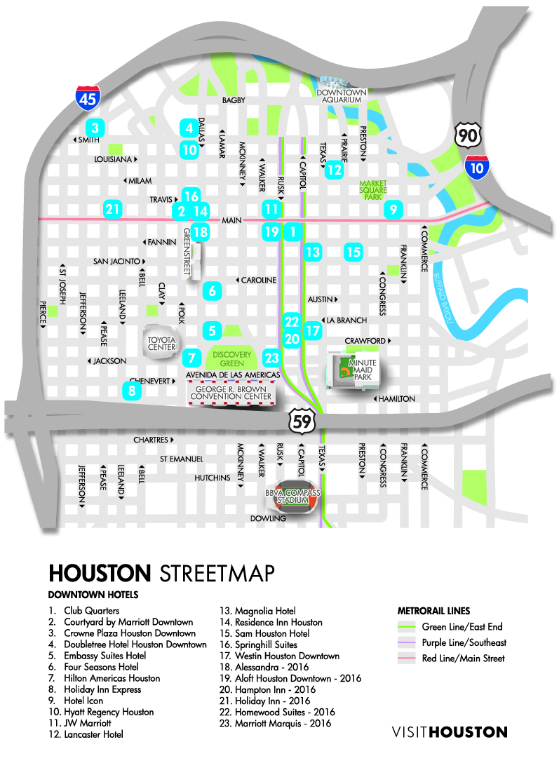 Houston Maps Transportation Airports Directions - Printable map of houston