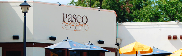 Image of the exterior of the Paseo Grill, a restaurant in the Paseo Arts District of Oklahoma City.