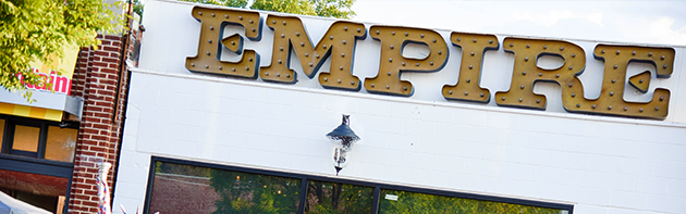 Exterior of Empire Slice House Restaurant