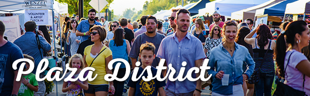 Image of people at Plaza District Festival 2015 in the Plaza District of Oklahoma City.