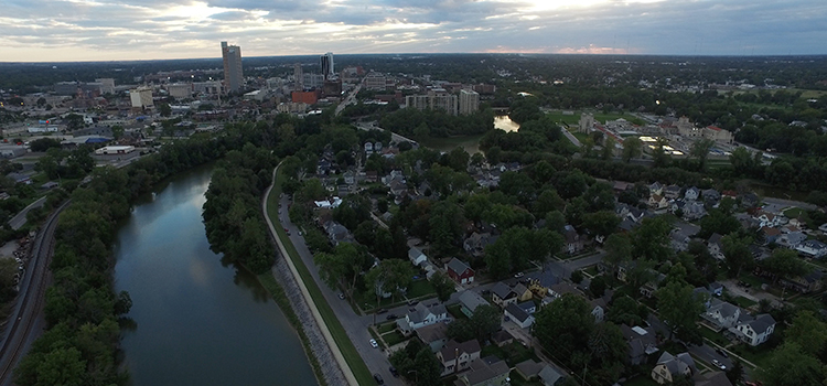 Fort Wayne Aerial - Three Rivers