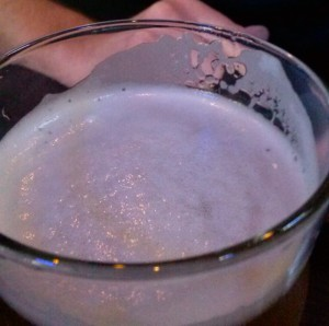 An excellent craft beer like this Snow Bunny Blond are always on tap at Scotty's.