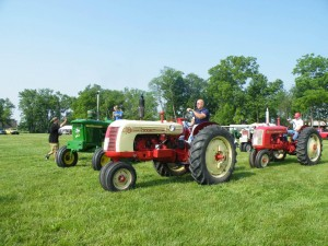 Driving the antique tractors at the Spring Gas Up is a bad idea unless you actually own the tractor.  (Photo courtesy of HCATMA's Facebook page.)