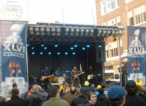 Super Bowl Village band