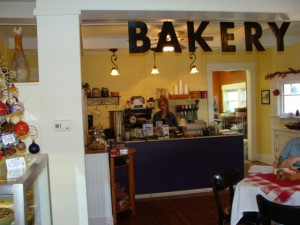 Inside the Bread Basket Cafe & Bakery