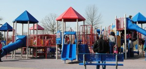 Playground in Hummel Park in Plainfield