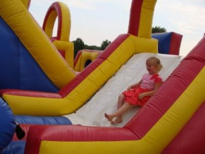 The Inflatable Slide at Hendricks County Rib-Fest