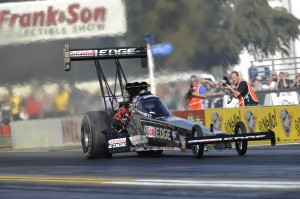 Brittany is the only member of the Force family to not drive a Funny Car.  (Photo courtesy of NHRA)