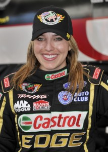 Brittany Force will drive a Top Fuel dragster at U.S. Nationals at Lucas Oil Raceway.  (Photo courtesy of NHRA)